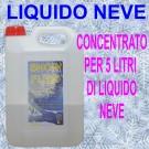 SNOW FLUID-Concentrato per produrre  5 litri di liquido da utilizzare nell Macchina neve -