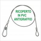 Cavetto di sicurezza anti graffio  in acciaio rivestito di PVC