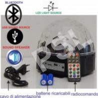 Effetto Luce Led--MEGASTAR DELUXE BT--con altoparlanti e batterie ricabicabili