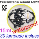 Party Light Led String 15mt da esterno (Catenaria luminosa) con 30 lampade Led