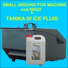 Macchina Fumo Basso-Small Ground Fog Machine con una tanika di liquido ICE FLUID
