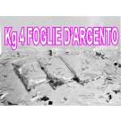 N° 4 confezioni di FOGLIE D'ARGENTO coriandoli da utilizzare solo in  macchine lancia coriandoli