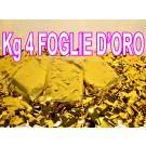 4 kg diFOGLIE D'ORO(CORIANDOLI METALLIZZATI DORATI)da utilizzare solo in  macchine lancia coriandoli