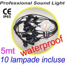 Party Light Led String 5mt da esterno (Catenaria luminosa) con 10 lampade Led