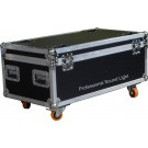 -FLIGHT CASE PER 8 OMNIPAR COLOUR 6-UV