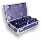 --FLIGHT CASE PER 4 LED BLINDER 2 WHITE LIGHT