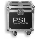 --FLIGHT CASE PER 2 LED BLINDER 4 WHITE LIGHT