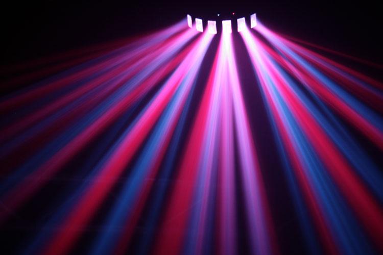luci psichedeliche raggi multicolor
